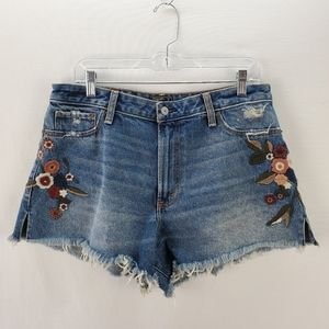 Abercrombie & Fitch embroidered jean shorts